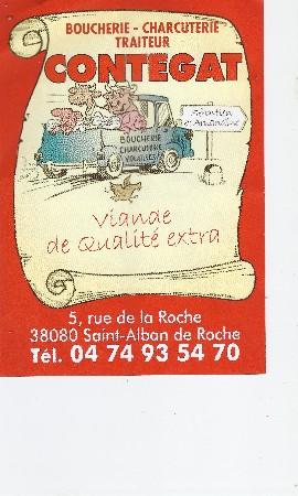 boucherie charcuterie traiteur CONTEGAT Saint Alban de Roche